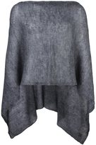 Al Duca D'Aosta 1902 - semi-sheer knitted short cape - men - Acrylic/Polyamide/Mohair - One Size