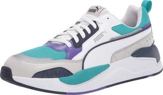 Puma Men's X-Ray 2 Square Sneaker White White Black-Lapis Blue 9 Women/10.5 Men