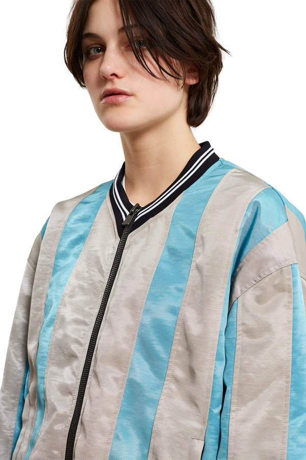 Y/Project Striped Bomber Jacket