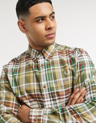 Fred Perry tartan check shirt in green