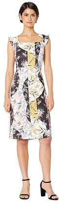 Sam Edelman Floral Stripe Scuba Dress