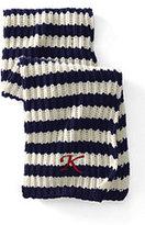 Classic Women's Striped Knit Scarf-Jet Black