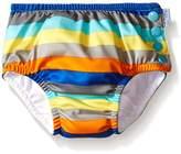 I Play Swim Nappy (12-18 Months, Grey Multi-Stripe)