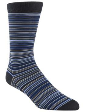 Cole Haan Men's Multi Stripe Crew Socks