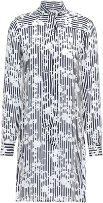 MICHAEL Michael Kors Tie-neck Silk Crepe De Chine Mini Dress