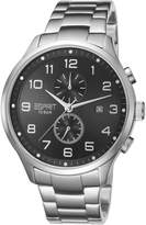 Diesel Men's DZ4258 Silver Stainless-Steel Quartz Watch with Silver Dial