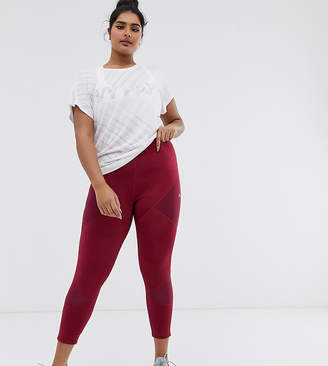 Only Play Curvy Audry 7/8 training tights-Red
