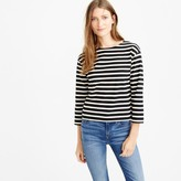 J.Crew Long-sleeve striped crewneck T-shirt