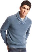 Gap Soft textured shawl collar sweater