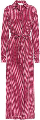 Diane von Furstenberg Printed Crepe Maxi Shirt Dress