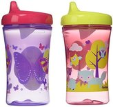 Gerber Graduates Advance Developmental Hard Spout Sippy Cup in Assorted Colors-2 Pack, 10-Ounce (Theme May Vary) by