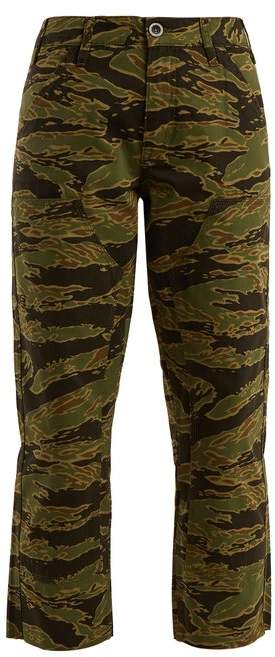 MiH Jeans Phoebe Camouflage Print Cotton Cropped Trousers - Womens - Camouflage
