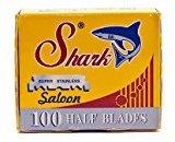 Shark 100 Super Stainless Straight Edge Barber Razor Blades for Professional Barber Razors