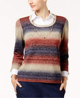 Alfred Dunner Gypsy Moon Layered-Look Necklace Sweater