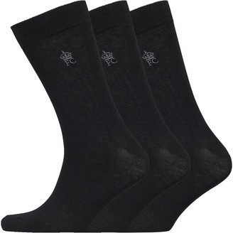 French Connection Mens Three Pack Socks Black/Gunmetal