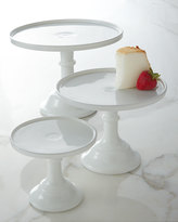 "Horchow 12"" Milk-Glass Pedestal Server"
