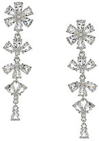 Kate Spade Be Adorned Rhodium and Crystal Linear Earrings