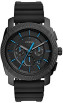 Fossil Men's Machine Chronograph Silicone Strap Watch, 45Mm