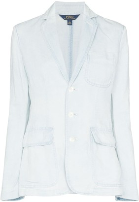 Polo Ralph Lauren Washed Denim-Effect Blazer