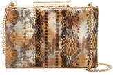 Sondra Roberts Painted Genuine Snakeskin Clutch