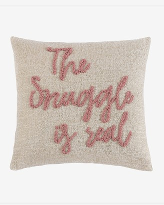 """Express Shiraleah """"The Snuggle Is Real"""" Throw Pillow"""