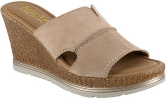Bella Vita Italy Slip-On Leather Wedge Sandals- Gal-Italy