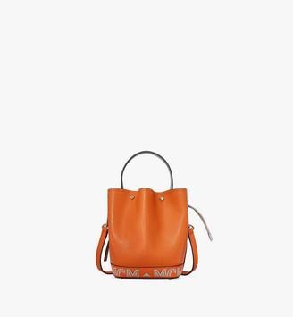 MCM Milano Drawstring Bag in Color Block Goatskin Leather