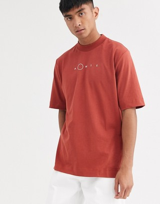 ASOS loose fit t-shirt in red with logo print