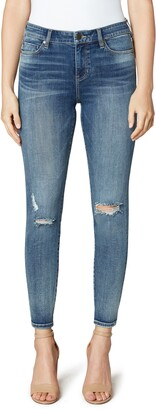 Liverpool Los Angeles Penny Distressed High Waist Ankle Skinny Jeans