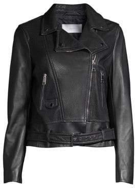 BOSS Leather Moto Jacket