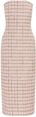 Brock Collection Tweed Strapless Dress