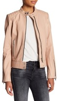 7 For All Mankind Leather Scuba Jacket