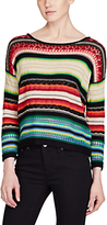 Lauren Ralph Lauren Stripe Cotton Linen Jumper, Multi