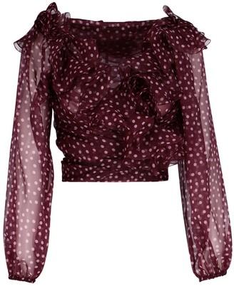 Dolce & Gabbana Polka-Dot Ruffle Blouse