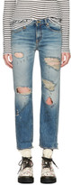 R 13 Blue Shredded Bowie Jeans