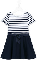 Ralph Lauren striped bow dress - kids - Polyester/Spandex/Elastane/Viscose - 2 yrs