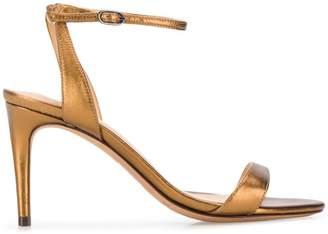 Alexandre Birman metallic ankle strap sandals