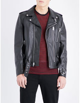 Saint Laurent Blood Luster Embellished Leather Jacket