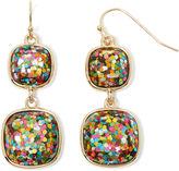 Liz Claiborne Multicolor Double-Drop Earrings