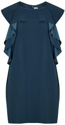 Victoria Victoria Beckham Blue ruffle-trimmed dress