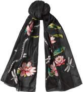 Alexander McQueen Printed Chiffon Scarf with Silk
