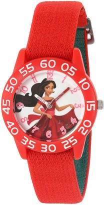 Disney Girl's 'Elena of Avalor' Quartz Plastic and Nylon Watch Color:Red (Model: W003030)