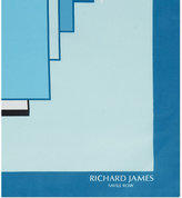 Richard James Deco Blocks Silk Pocket Square