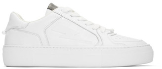 Neil Barrett White Pierced Modernist Ultra-L Sneakers