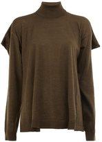 Maison Margiela cape-detail roll neck sweater