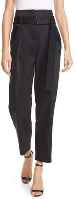 Sicily Judith & Charles Pleated Satin Trousers