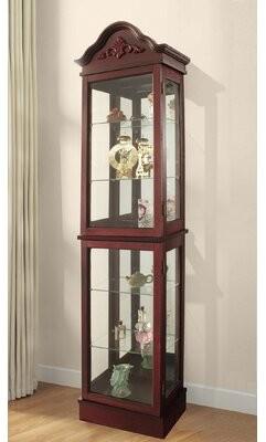Ballycastle Lighted Curio Cabinet Astoria Grand