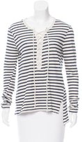Pam & Gela Striped Lace-Up Top w/ Tags