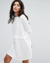 Daisy Street Oversized Sweat Dress With Layer Detail