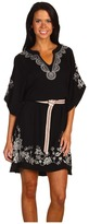 JWLA Tanya Mandarin Belt Dress (Black) - Apparel